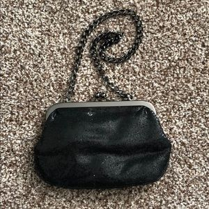 ✨5/$25✨ Express Black Sequined Clutch w/Chain
